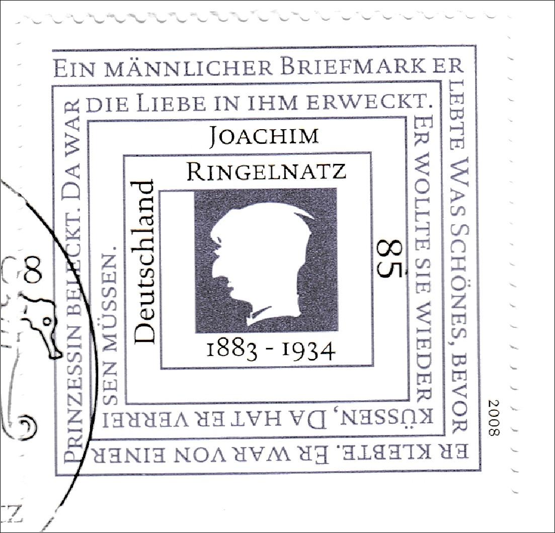 Details Zu Brd Ersttagsbrief Fdc Michel Nr 2685 125 Geburtstag Von Joachim Ringelnatz