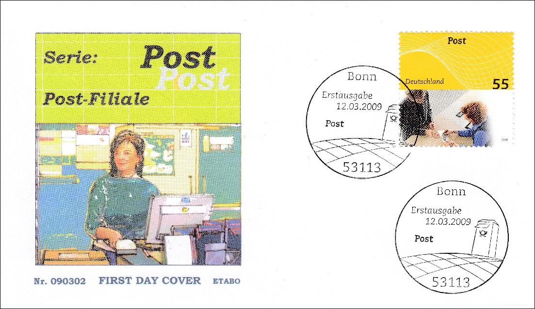brd ersttagsbrief fdc michel nr 2723 24 post universal absender postfiliale briefmarkenhaus engel. Black Bedroom Furniture Sets. Home Design Ideas