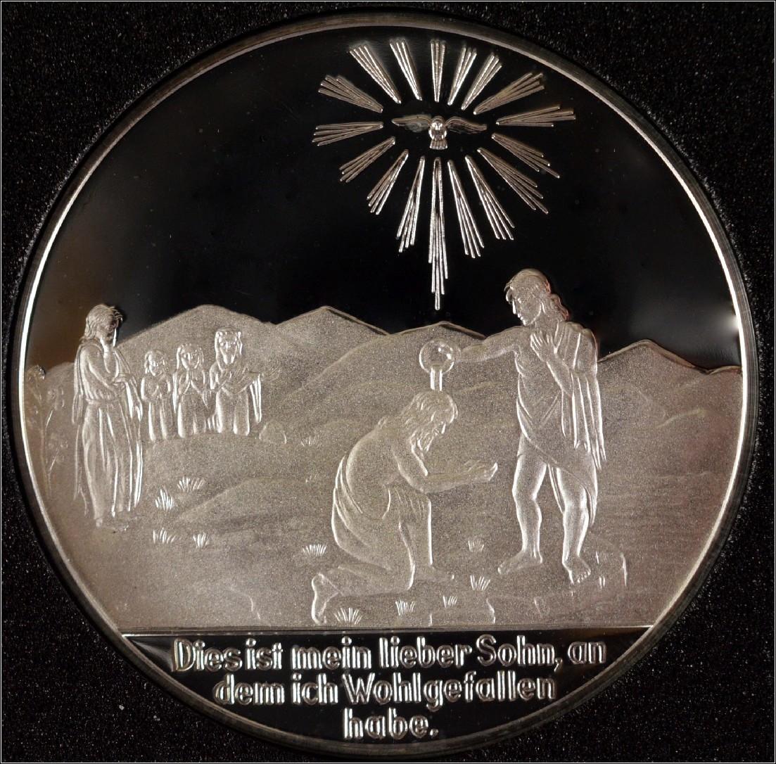 Tauftaler Mit Etui Medaille Zur Taufe In Silber Geschenk Taufpatin
