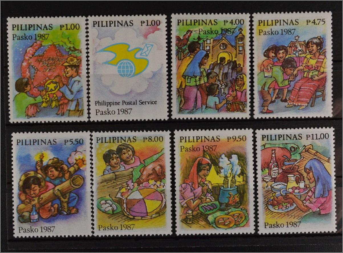 philippinen 1987 michel nr 1821 28 weihnachten kinder. Black Bedroom Furniture Sets. Home Design Ideas