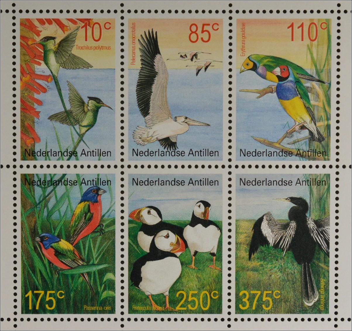 Laos 1220-1225 Postfrisch 1990 Vögel kompl.ausg.