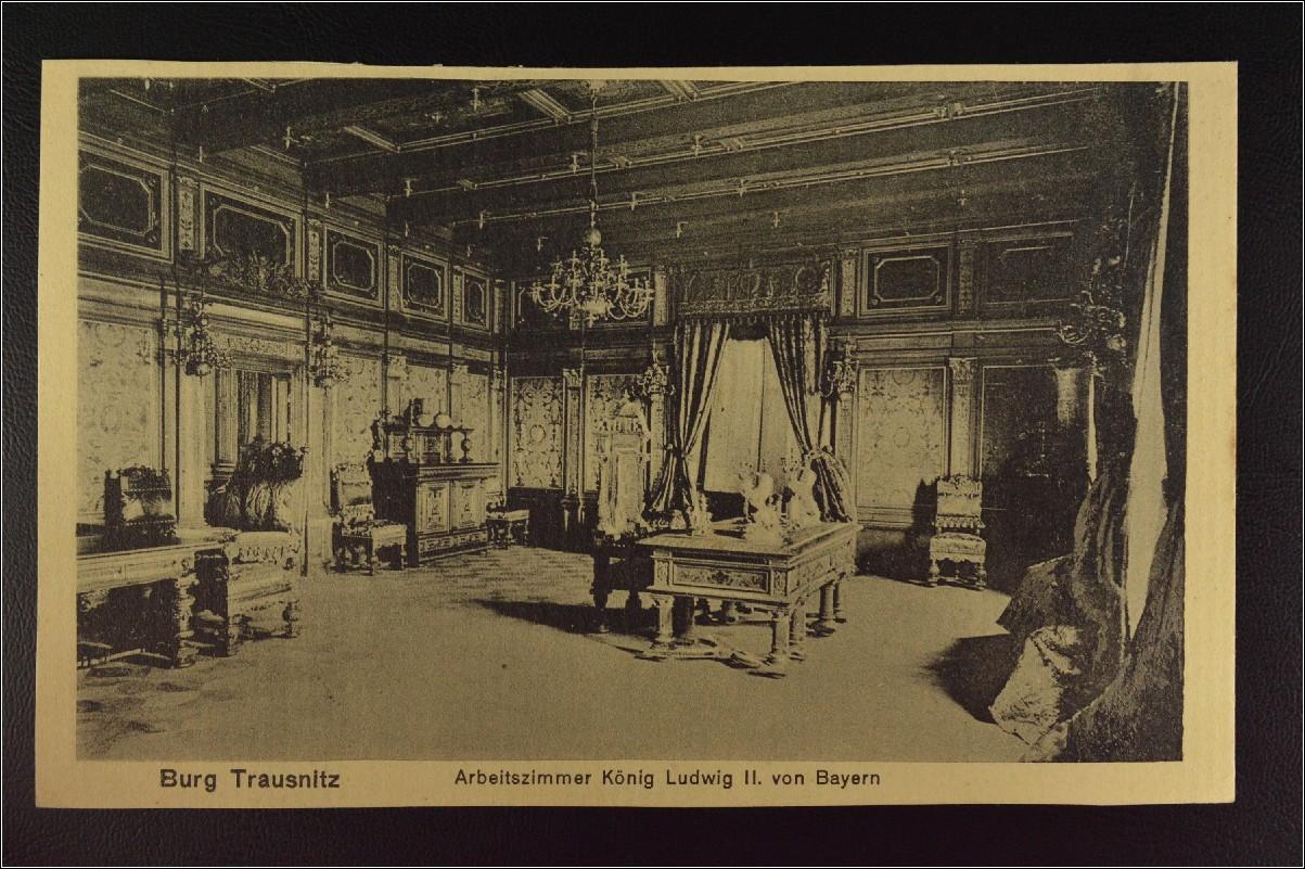 Briefe Von Ludwig Ii : Ansichtskarte landshut burg trausnitz arbeitszimmer könig