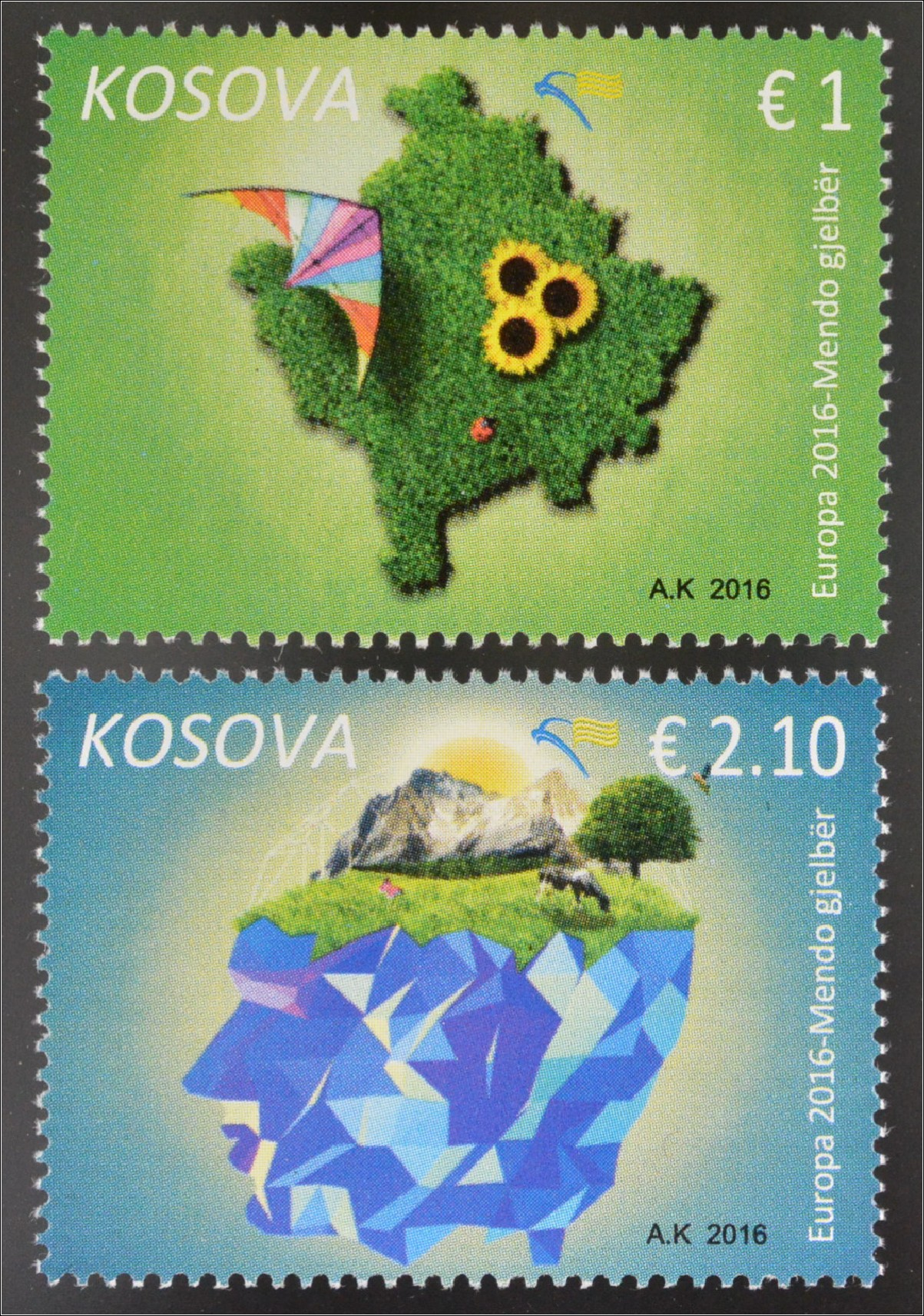 Umweltbewusst Leben 425-26**, Briefmarken Aland 2016 Europa