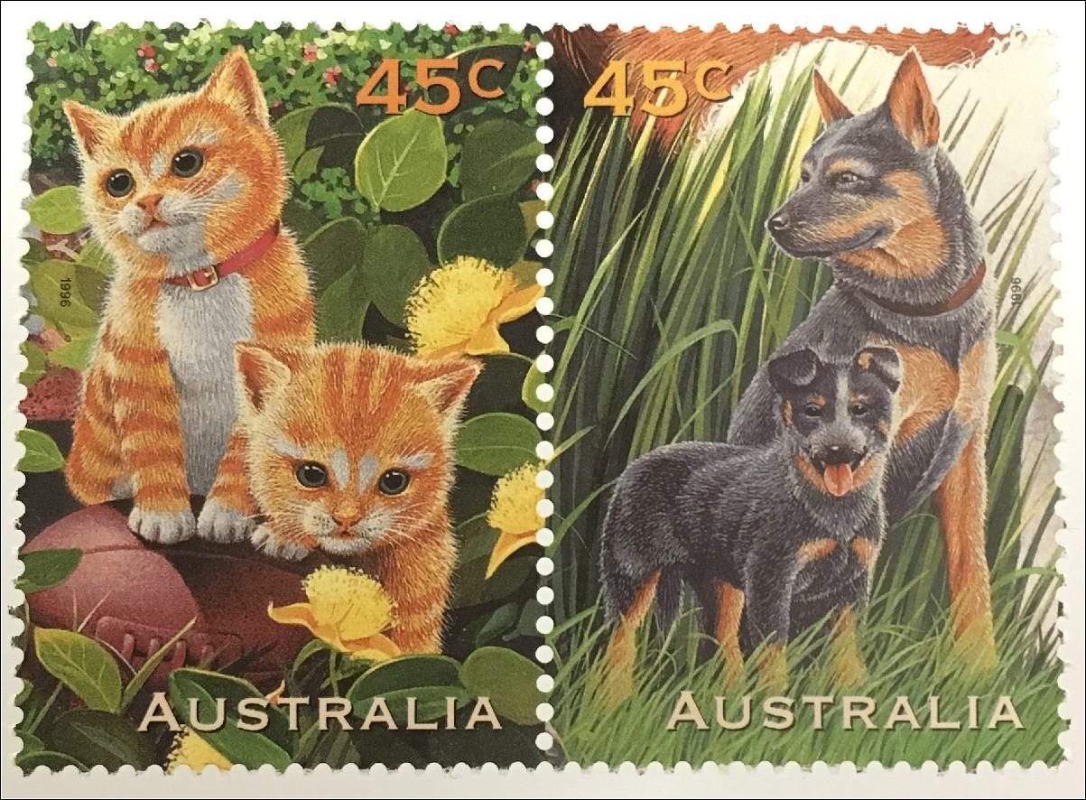 mnh D Katzen ** 4345-49 Hunde