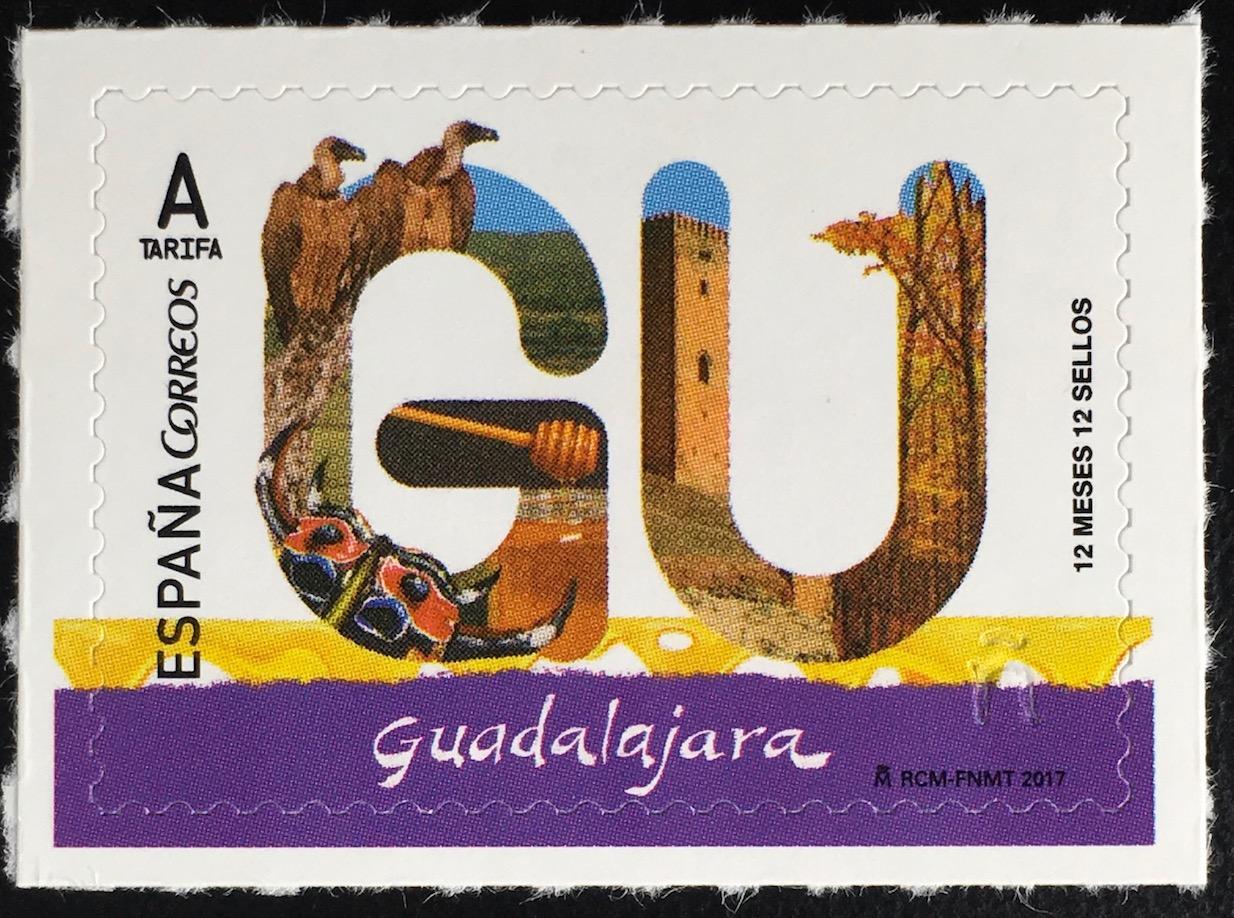 spanien espa a 2017 michel nr 5122 provinzen guadalajara g nsegeier burg molina. Black Bedroom Furniture Sets. Home Design Ideas