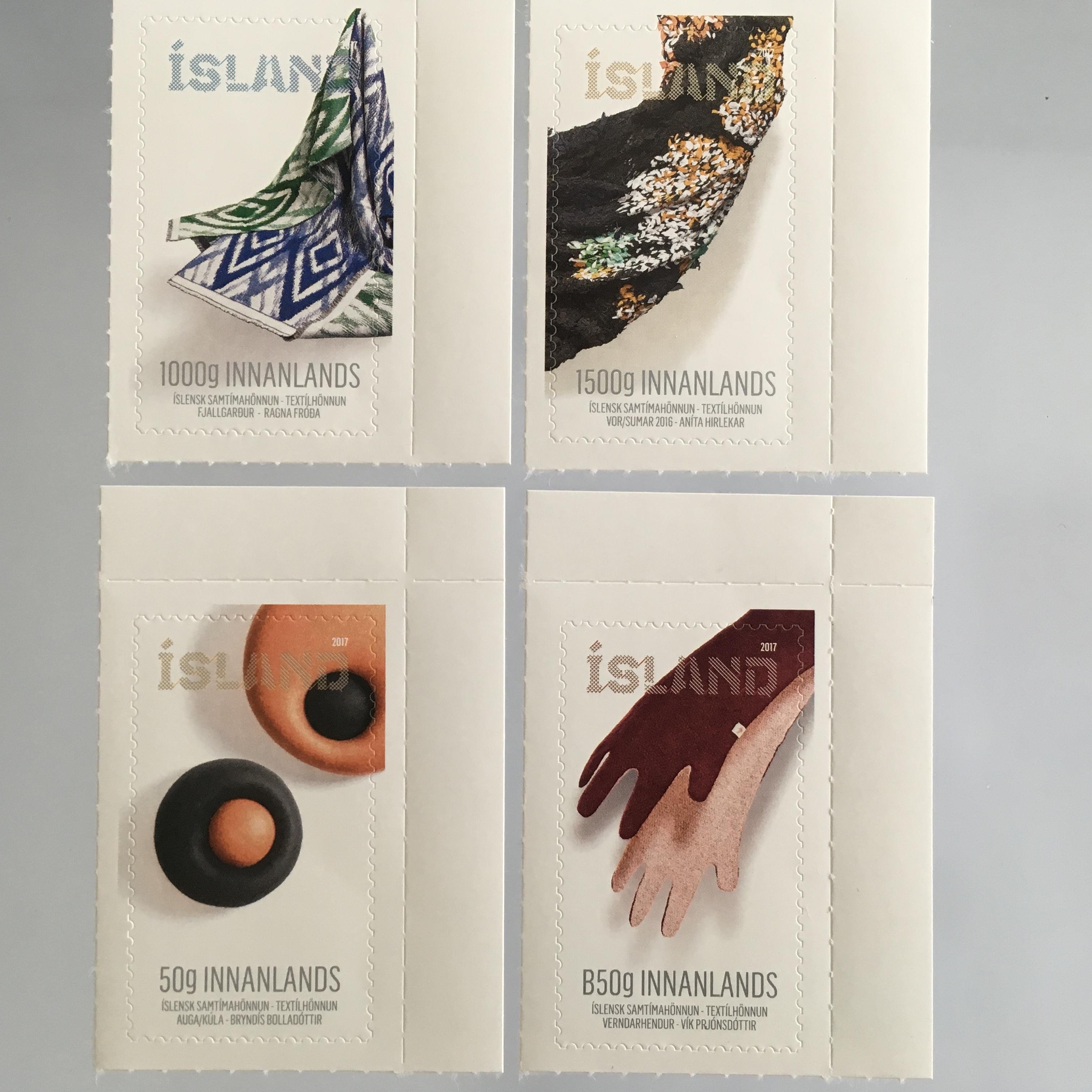 Island Iceland 2017 Michel Nr. 1518-21 Zeitgenössisches Design ...