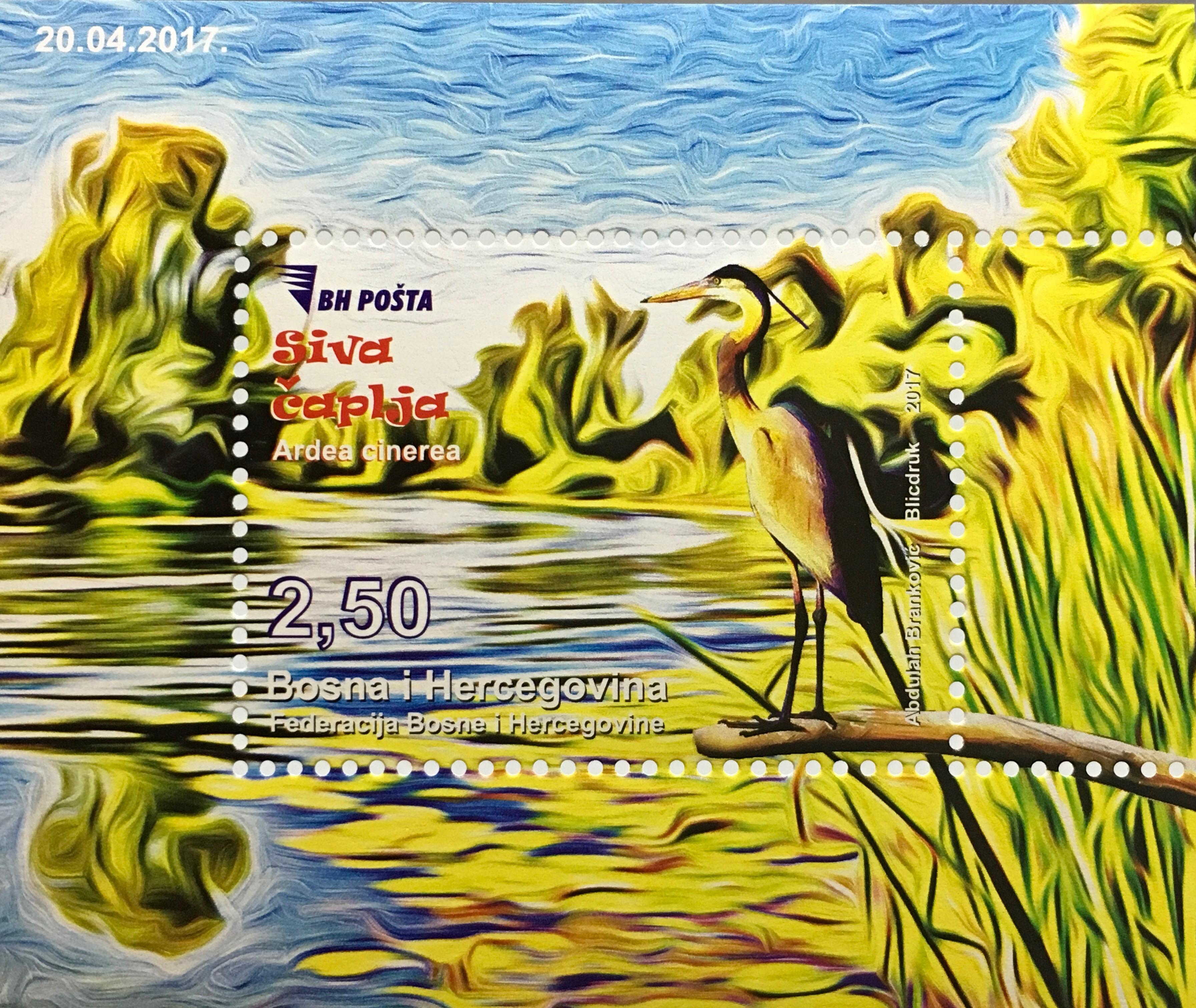 bosnien herzegowina 2017 neuheit fauna tierwelt v 246 gel