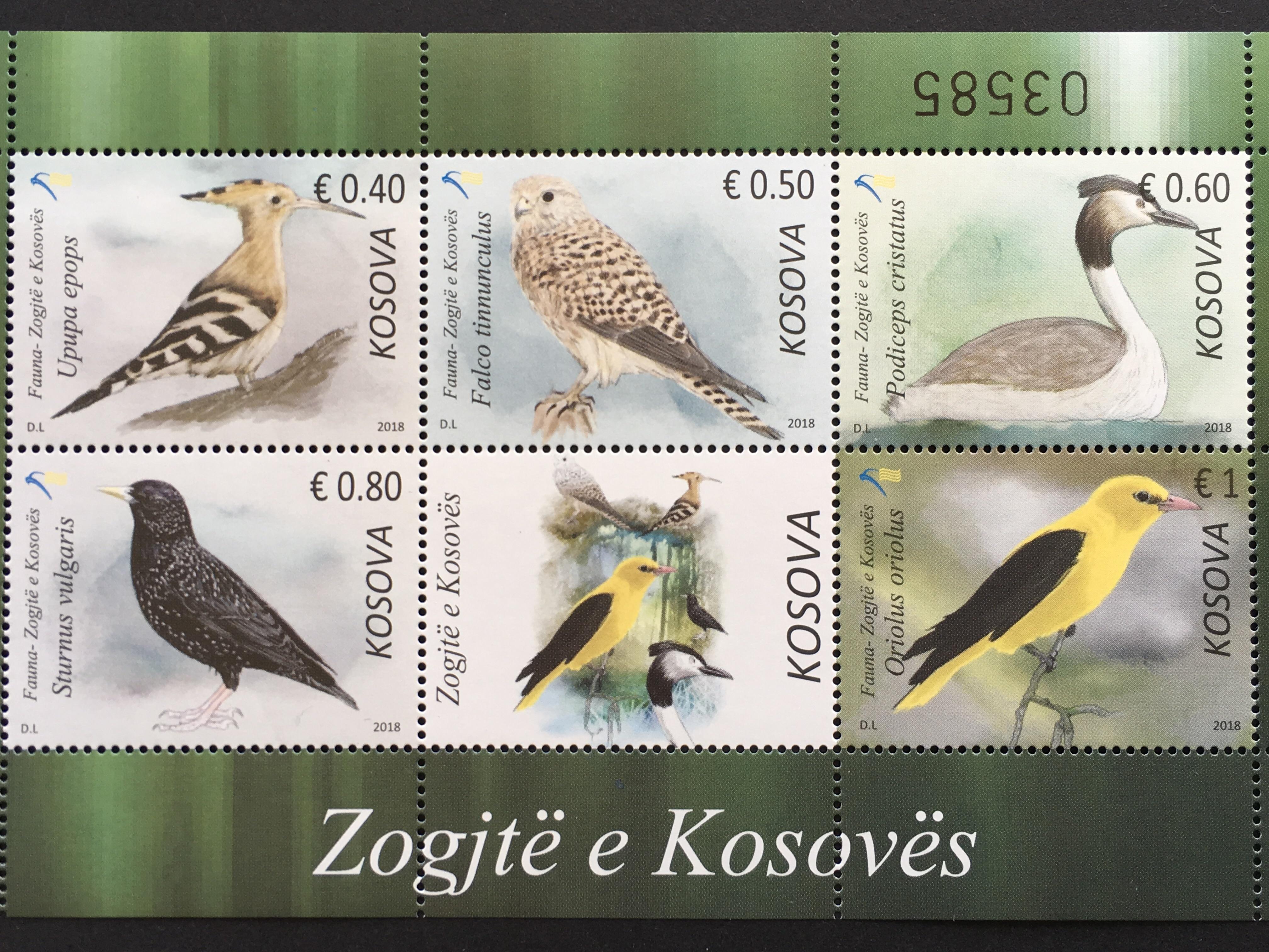 Kosovo 2018 Block 45 Einheimische Vögel Fauna Tiere Ornithologie Wiedehopf
