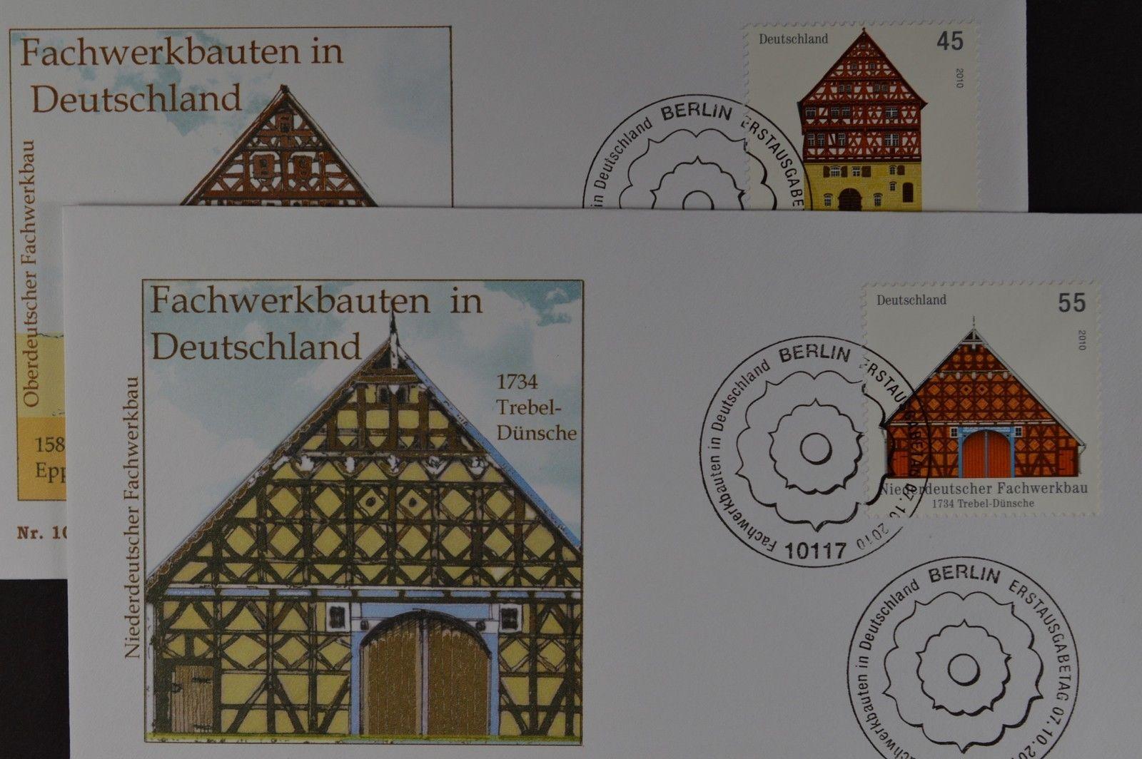 Bund brd ersttagsbrief fdc michel nr 2823 24 for Fachwerkbauten deutschland